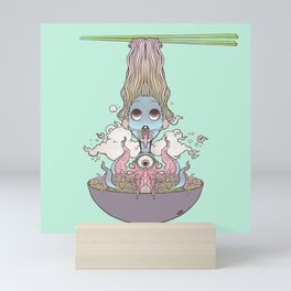 Ramen Noodle And Octopus Tentacle Anime Girl Mini Art Print
