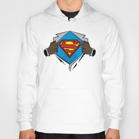 superman Hoodies featuring Superman  by Wave Sports