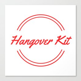 Hangover Kit Canvas Print