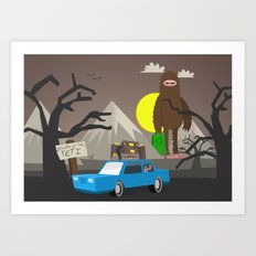 Beware of the Yeti Art Print