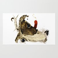 jack russell Area & Throw Rugs featuring Jack Russell by Ariadna