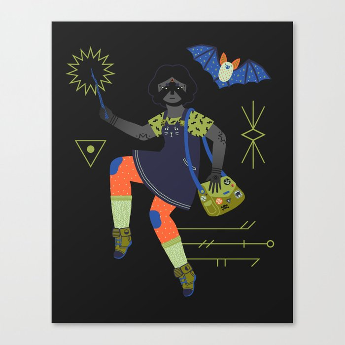 Witch Series: Magic Wand Canvas Print