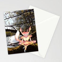 Lakeside meditation Stationery Cards