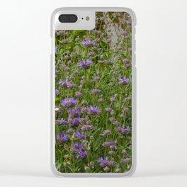 Purple Sage Bushes Clear iPhone Case
