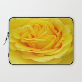 Beautiful Yellow Rose Closeup Laptop Sleeve
