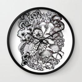 A Medley of Mushrooms Wall Clock