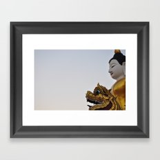 Buddha and Dragon  (Travel & Thailand) Framed Art Print
