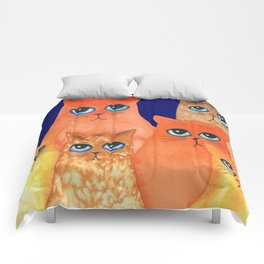 Annapolis Whimsical Cats Comforters