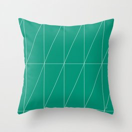Emerald Triangles by Friztin Throw Pillow