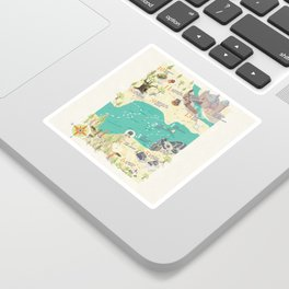 Princess Bride Discovery Map Sticker