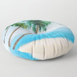 Palm Trees 2 Floor Pillow