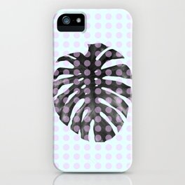 Monstera Dots iPhone Case
