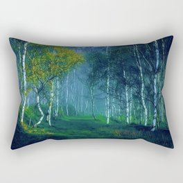 White Birch Forest, New England Landscape Rectangular Pillow