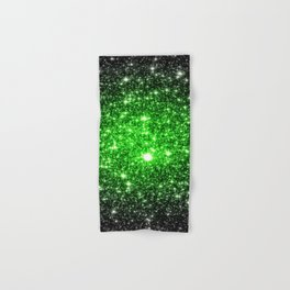 galAxy. Stars Lime Green Hand & Bath Towel