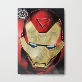 Avengers Reflection Metal Print