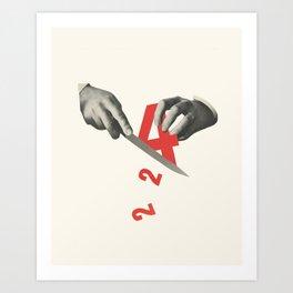 Division (4 ÷ 2) Art Print