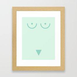 Bird Face Framed Art Print
