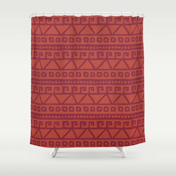 Aztec hand-drawn pattern Shower Curtain