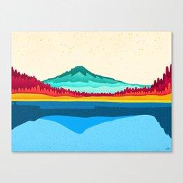 Mount Hood and Trillium Lake Canvas Print
