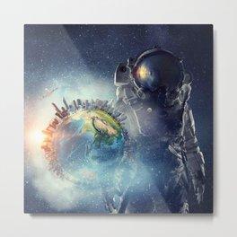 Galaxy astronaut 2 Metal Print