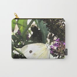 Cabbage White Butterfly Digital Manipulation Carry-All Pouch