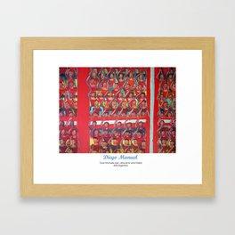 Gran hinchada roja (detalle) por Diego Manuel. Framed Art Print