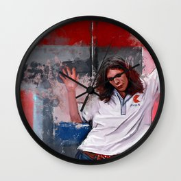 Painting Illustration Of Eddie From The Cult Classic Film Empire Records Wall Clock