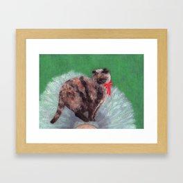 Cat on Tree Framed Art Print