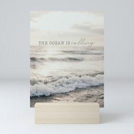 The Ocean Is Calling Mini Art Print