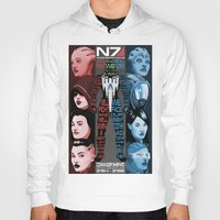 n7 Hoodies featuring N7: The Female Squad by Alex Rodway Illustration