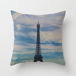 Eiffel Tower, Paris (Landscape) Throw Pillow