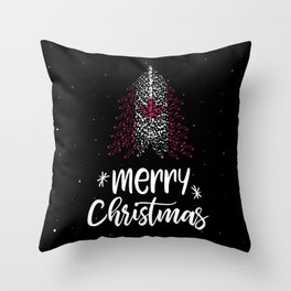 Merry Christmas and Canadian flag Throw Pillow