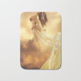 Woman flying Bath Mat