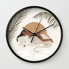 A tiger doesn't lose sleep overthe opinion of sheep Wall Clock