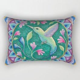 Hummingbird Mandala Rectangular Pillow