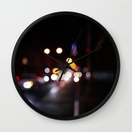 Bubbles of Light in the Night A Wall Clock