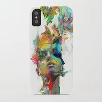black cat iPhone & iPod Cases featuring Dream Theory by Archan Nair