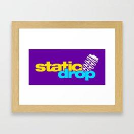 Static drop v3 HQvector Framed Art Print