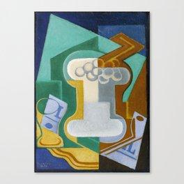 """Juan Gris """"Verre et Fruits (Glass and Fruit)"""" Canvas Print"""