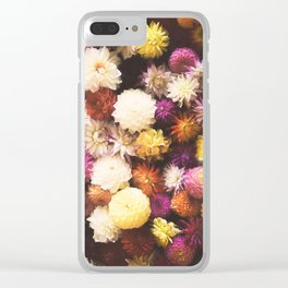 Beautiful Flowers Clear iPhone Case