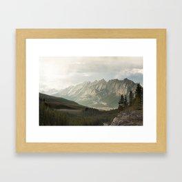 Rocky Mountains Photography Print Framed Art Print