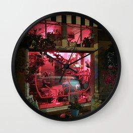 Pink Rhino Salon #UrbanArt #Photography #StreetScene Wall Clock