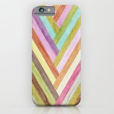 Wood colorful stripes Slim Case iPhone 6