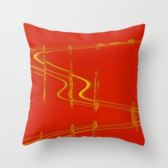 Modern Art Pillow : Modern Art Red Throw Pillow by Vitta Society6