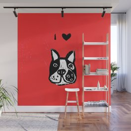 I heart Dogs Wall Mural