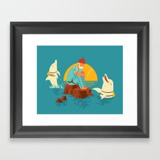 Sonnofabitch, I'm sick of these dolphins Framed Art Print
