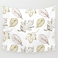 Leaves (browns) Wall Tapestry