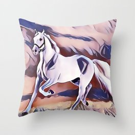 The American Paint Horse Throw Pillow