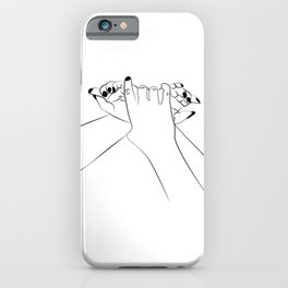 Dominant hands iPhone Case