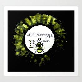 BEE SIDES Art Print